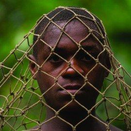Ba'Kola Pygmys & duiker hunting nets