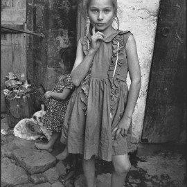 Beautiful-Emine-posing,-Trabzon,-Turkey,-1965