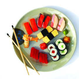 Assorted Sashimi on Plate