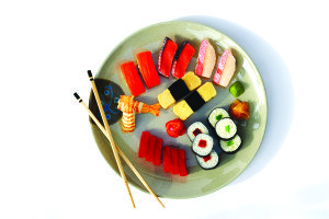 Assorted Sashimi on Plate