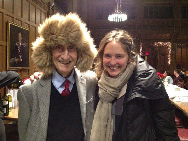 En Princeton, junto a Freeman Dyson, el teórico matemático en física cuántica.