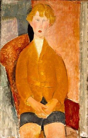3_Modigliani_Gara¦üon_en_culotte_courte