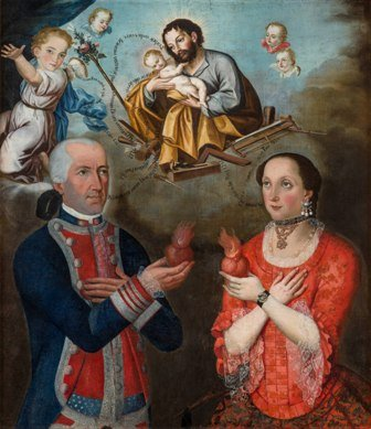 Marqueses de Miraflores, anónimo, s.XVIII, pintura sobre tela.