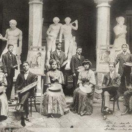 Grupo de alumnos, 1908.