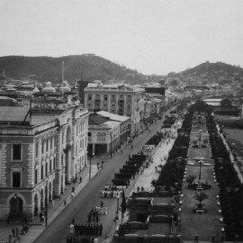 Vista del puerto y Guayaquil, 1920 - 1930.