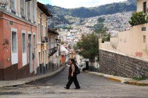 Vista del centro histórico desde la calle Los Ríos.