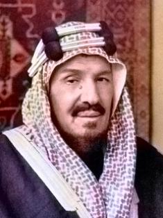 Abdulaziz ibn Saud (1875-1953).
