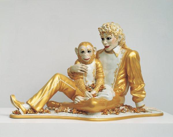 Michael Jackson y Bubbles, porcelana. Jeff Koons, 1988.