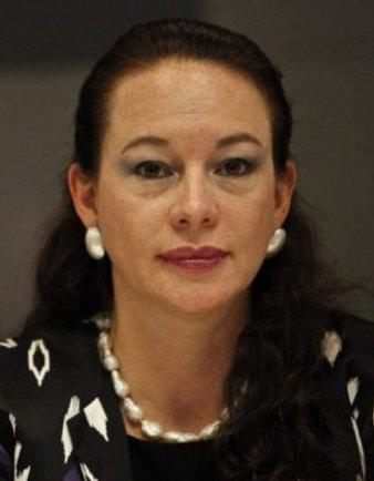 María Fernanda Espinosa, por entonces canciller del Ecuador.