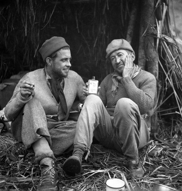 Con Luis Andrade, 1949.