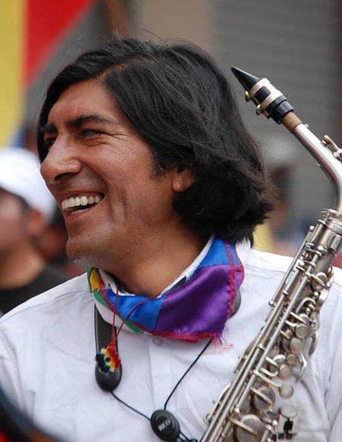 Horas antes de la detención del 13 de agosto en la marcha en Quito, 2015.
