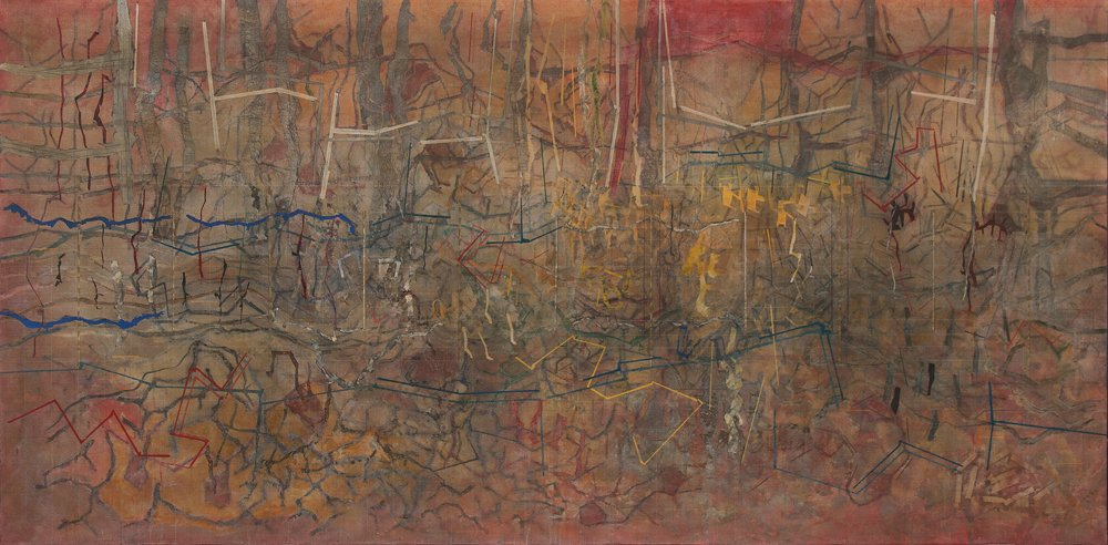 Cuadro 6 de Doce historias, acrílico sobre tela, 2011.