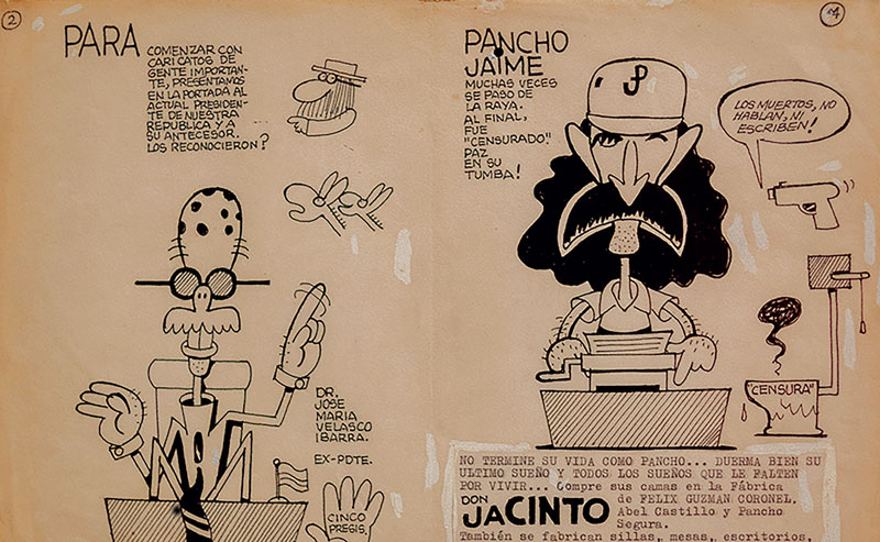 Pancho Jaime y el primer periódico chúcaro, publicado en 1986.