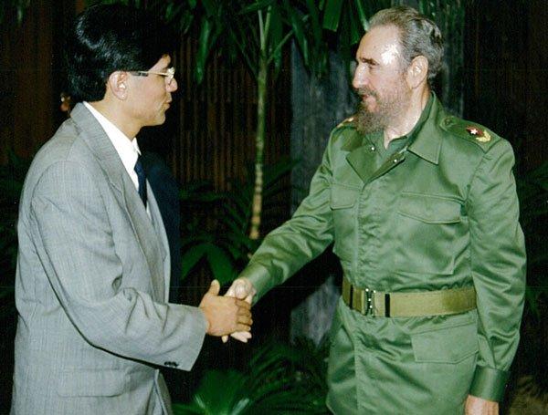 La foto clásica con el eterno líder cubano.