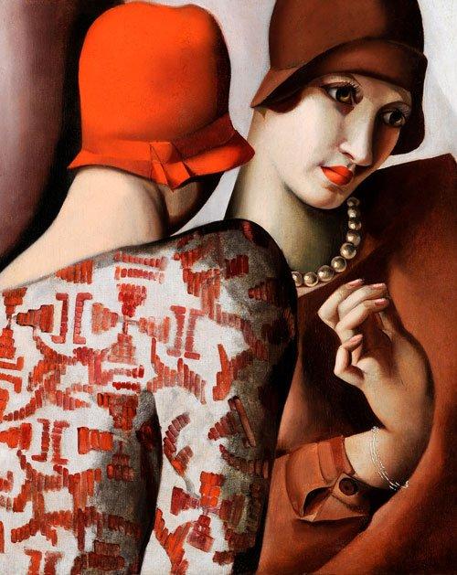 Las dos amigas - Confidencias, 1928, óleo sobre lienzo.