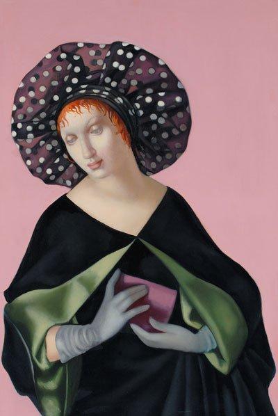 La mujer con sombrero, 1952, óleo sobre lienzo.