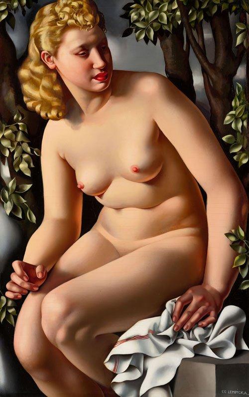 Susana en el baño, 1938, óleo sobre lienzo.