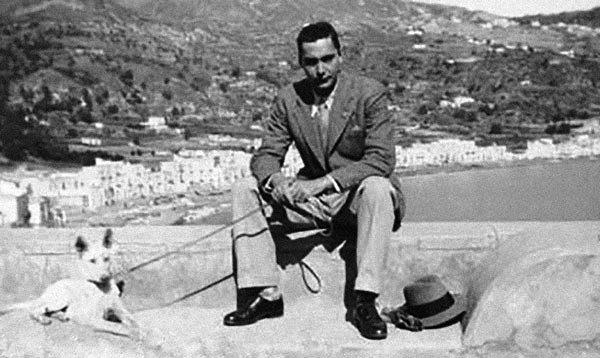 Durante el exilio en Lipari, archipiélago al norte de Sicilia, 1934.