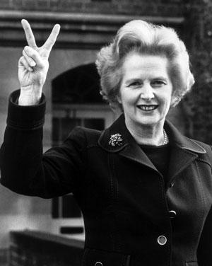 Thatcher, primera ministra de Gran Bretaña, 1979.