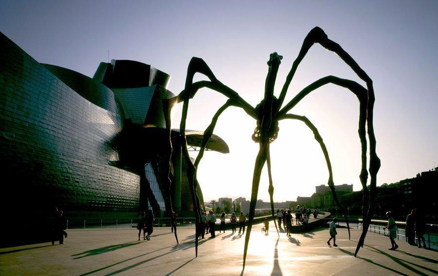 Escultura de araña, Guggenheim.