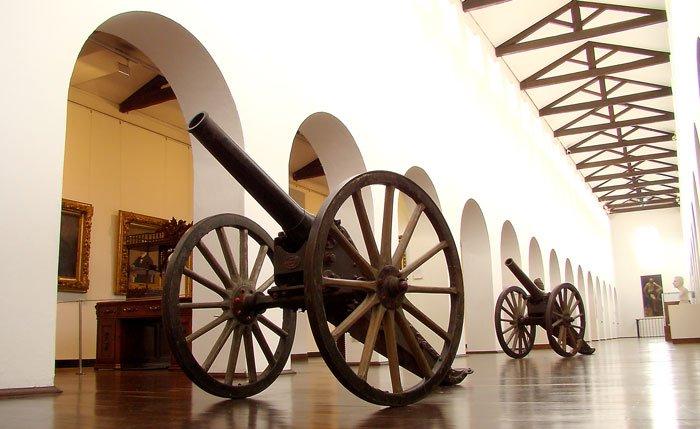 Sala histórica del Museo Nacional.