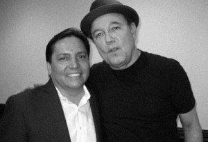 Con Rubén Blades.