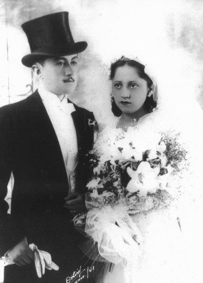 Boda de Cristina Delgado Carrión y José Vega y Vega en 1941.