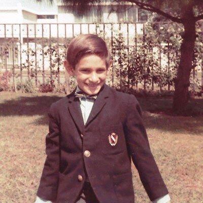 Cuando estudiaba en el colegio Maya de Ciudad de Guatemala, 1966.