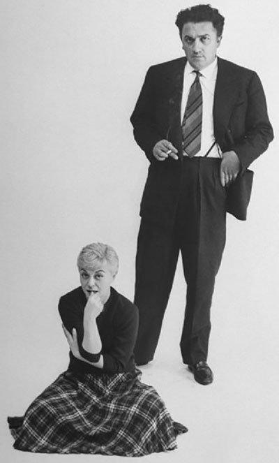 Federico Fellini y Giulietta Masina.